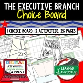 Executive Branch Activities Choice Board, Digital Distance
