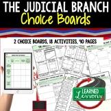 Judicial Branch Activities Choice Board, Digital Distance