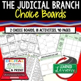 Judicial Branch Activities Choice Board, Digital Distance