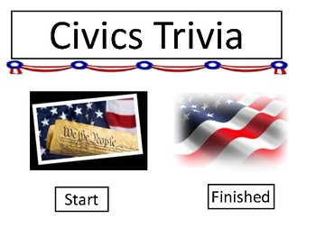 Civics Trivia Review Game Board Template
