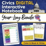 Civics & U.S. Government DIGITAL Interactive Notebook BUND