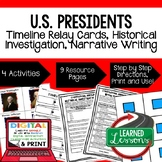 Civics U.S. Presidents Sequencing & Writing (Paper & Google Drive)