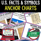 US Facts and Symbols Anchor Charts, US Facts Posters, Civics Anchor Charts