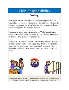 Civics: Unit 1 Citizen Responsibilities and Obligations Stations