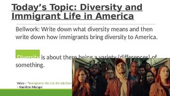 Civics: Unit 1 Day 2 Diversity in America