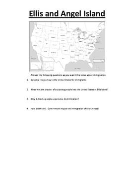 Civics: Unit 1 Ellis and Angel Island Worksheet