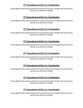 Civics Unit 10 2nd Amendment Strip