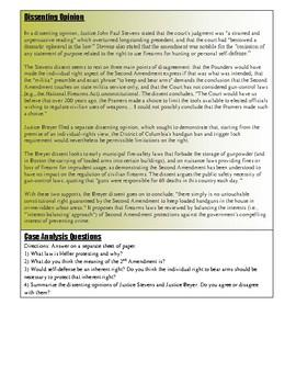 Civics Unit 10 SC Project Case Study: District of Columbia v Heller