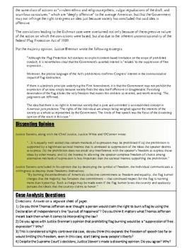 Civics Unit 10 SC Project Case Study: United States v Eichman