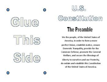 Civics Unit 11 Day 8 U.S. Constitution Outline Booklet