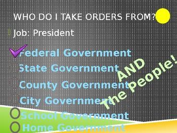 Civics Unit 11 Days 2 + 3 Powers of Government