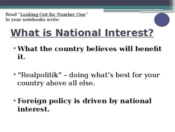 Civics Unit 12 Day 4 Foreign Policy