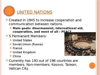 Civics Unit 12 Day 5-7 International Conflict WWI - Gulf War II