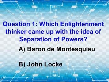 Civics: Unit 2 Day 4 Locke vs Montesquieu