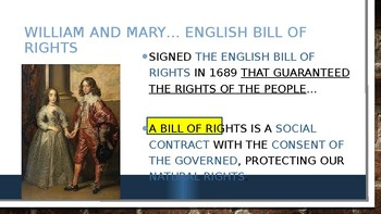 Civics: Unit 2 Day 5 Impact of the English Bill of Rights