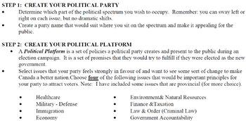 Civics- Unit 2 MOCK Federal Elections!!