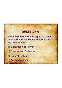Civics: Unit 2 Test Study Game Questions
