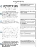 Civics: Unit 3 Common Sense Worksheet