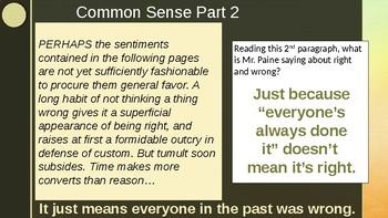 Civics: Unit 3 Day 3 Common Sense