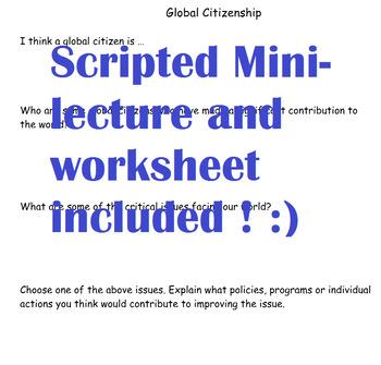 Civics- Unit 3 Introduction a Global Citizen!