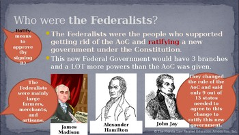 Civics Unit 4 Day 4 Federalists vs Anti-Federalists