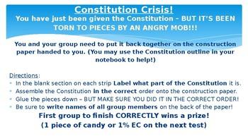 Civics Unit 5 Day 5 The Constitution