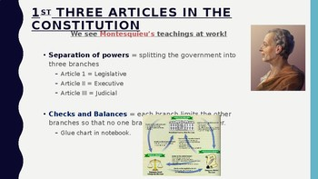 Civics Unit 5 Day 6 Articles 1-3 of the U.S. Constitution