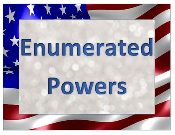 Civics Unit 5 Enumerated, Reserved, + Concurrent Powers Signs