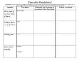 Civics Unit 5 Preamble Graphic Organizer