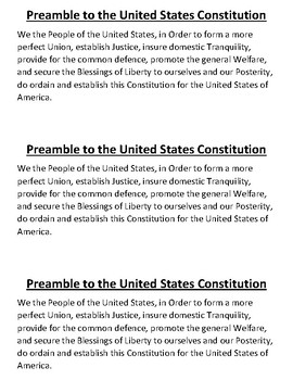 Civics Unit 5 Preamble Insert
