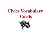 Civics Vocabulary Cards PowerPoint