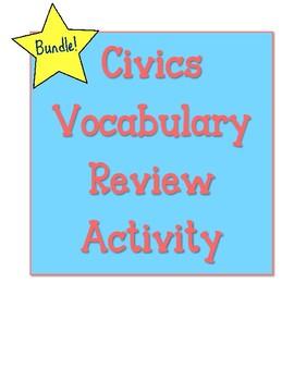 Civics Vocabulary Review Activities