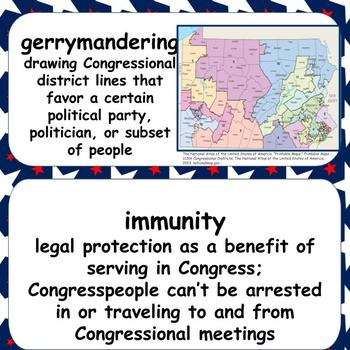 Civics & Government Word Wall: Congress