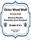 Civics Word Wall - Grades K & 1