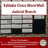 Civics & Government Word Wall: Judicial Branch