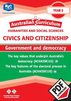 Civics and Citizenship: Government and democracy – Year 5