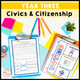 Civics and Citizenship Year 3 HASS QR codes, Worksheets, Activities and Slides