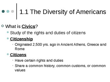 Civics and Economics Unit 1: Foundations of Democracy