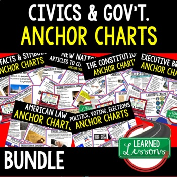 Civics and Government Anchor Chart BUNDLE (Civics & Government Bundle)