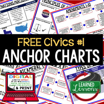 Civics and Government FREE Anchor Chart Sampler