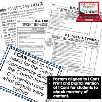 Civics and Government I Cans, Self-Assessment of Mastery BUNDLE