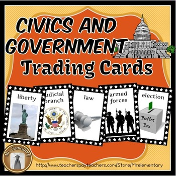 Government and Civics Trading Cards and Activities