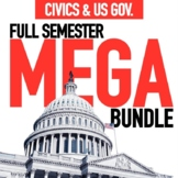 Civics and US Government Mega Bundle GOOGLE DRIVE ONLY