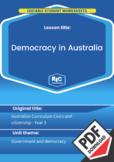 Civics and citizenship: Democracy in Australia