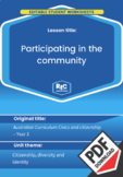Civics and citizenship: Participating in the community