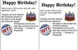 Civics or AP Government Birthday Slip