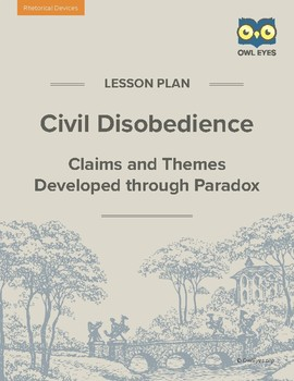 Civil Disobedience: Claims and Themes Developed through Paradox