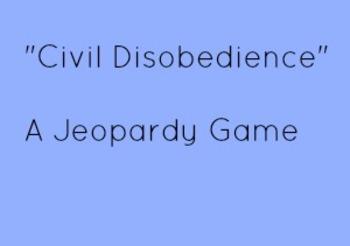 Civil Disobedience Jeopardy