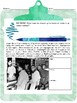 Martin Luther King JR and CIVIL DISOBEDIENCE - Reading and Writing Template