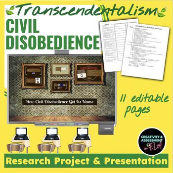 Civil Disobedience & Transcendentalism Multi-Media Present